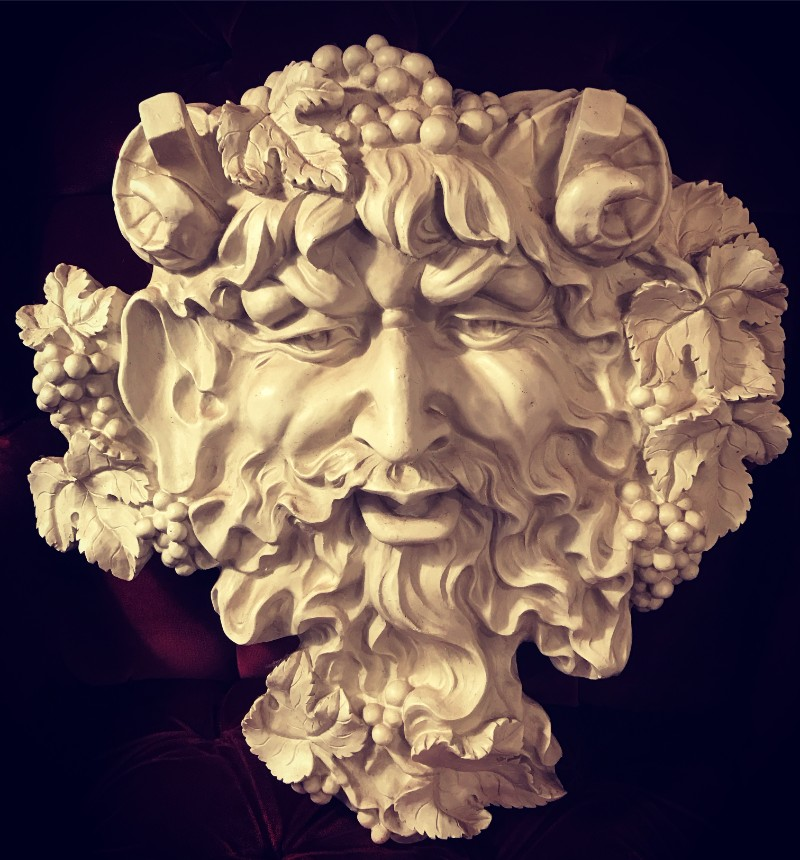 Bacchus face wall hanging