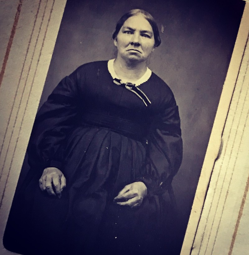 Vintage pic of unhappy lady