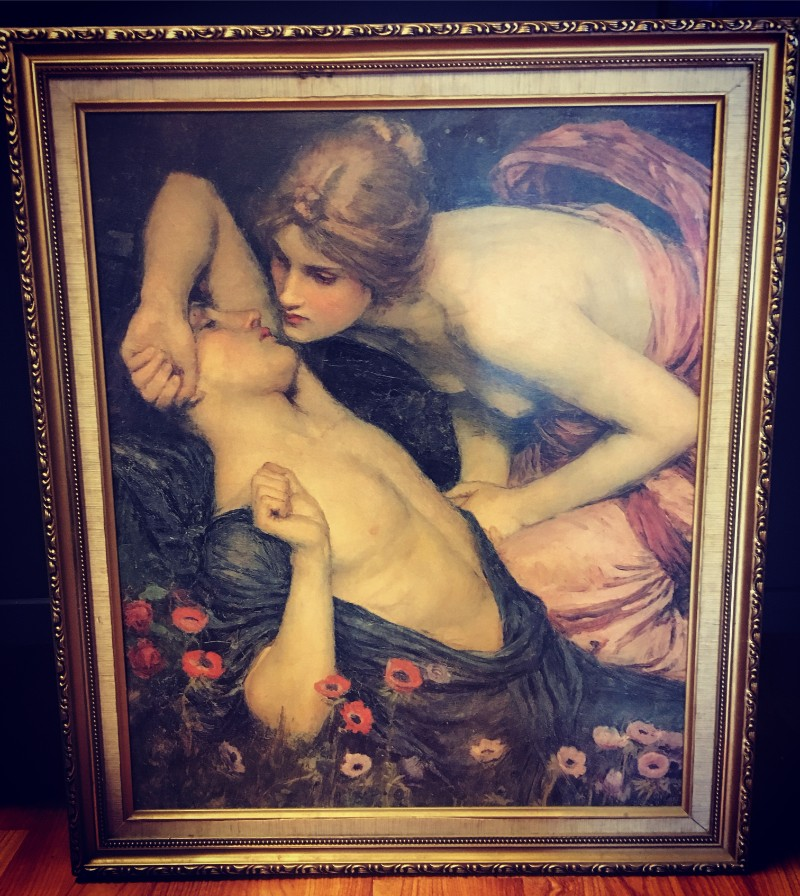 Vintage painting at Alchemy and Ashes