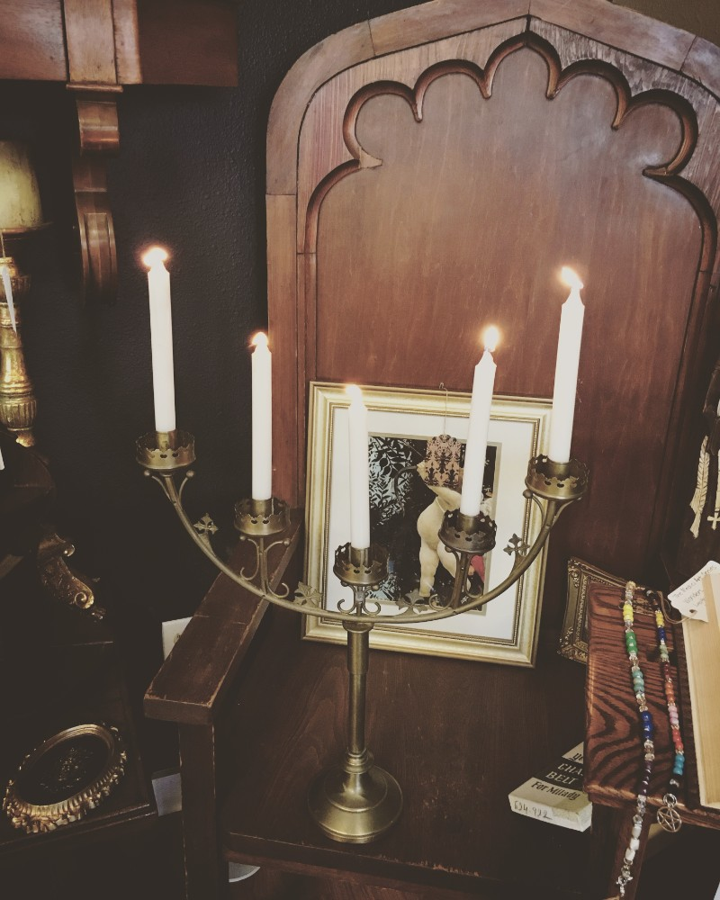 Candelabra and throne at Alchemy and Ashes