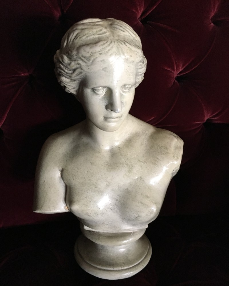 Vintage female bust at Alchemy and Ashes