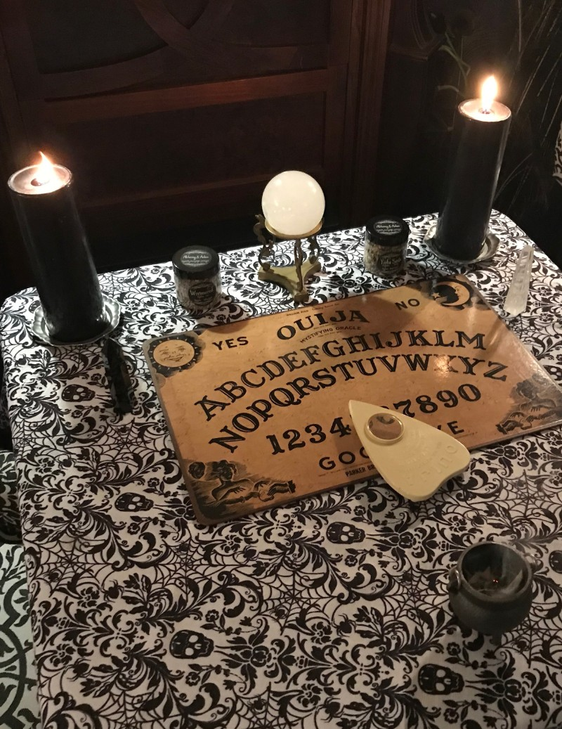 Ouija board at Alchemy and Ashes