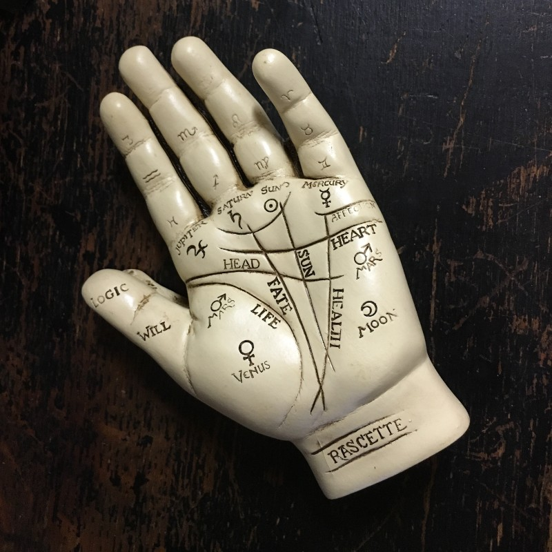 Palmistry hand at Alchemy and Ashes