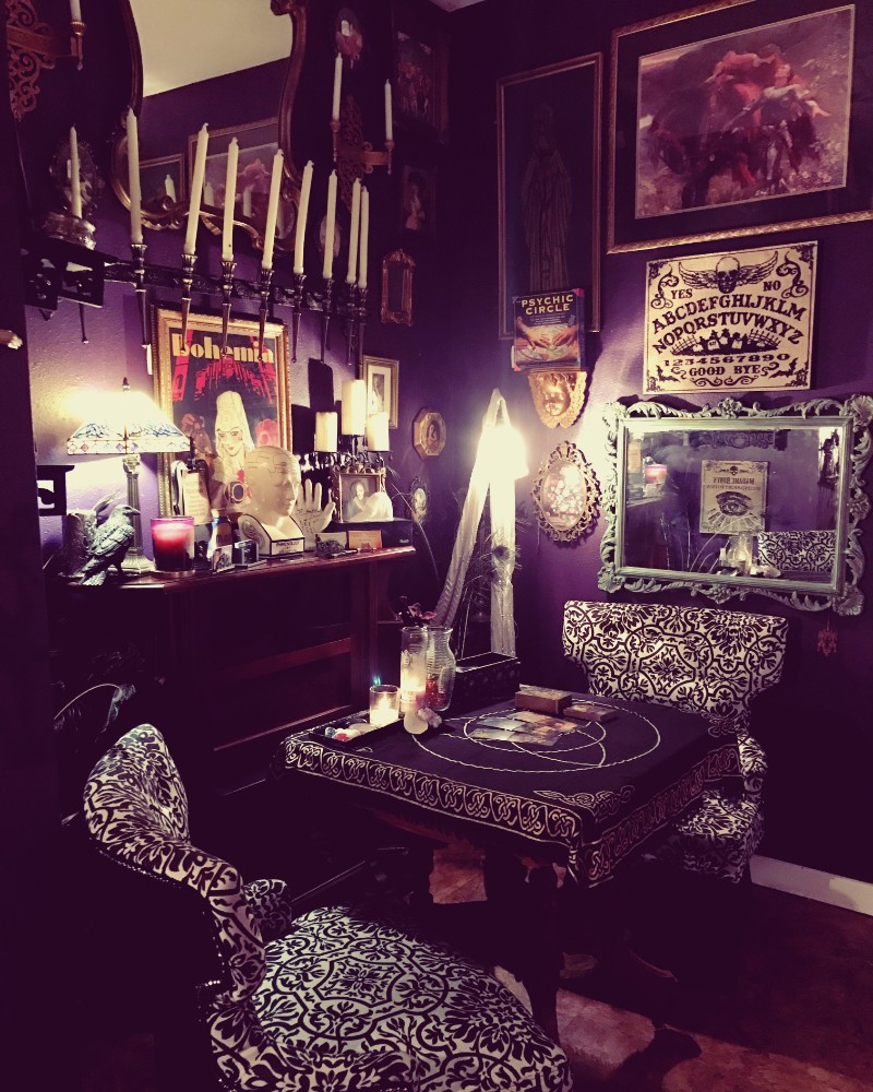 Spirit Parlour Psychic Reading room, Alchemy and Ashes